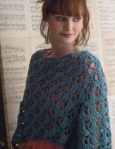 Pretty poncho crochet pattern