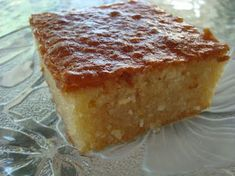 Greek Sweets, Greek Desserts, Greek Recipes, Tray Bake Recipes, Dessert Recipes, Rice Recipes, Greek Cake, Greek Pastries, Honey Chocolate