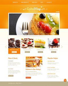Cake  Bakery Blog WordPress Theme With Homepage Image Slider