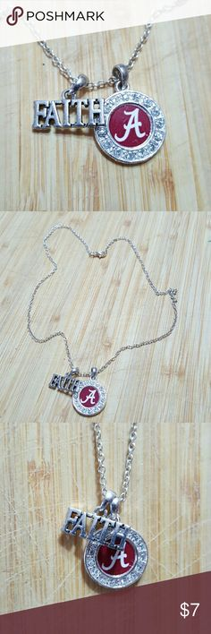 """Alabama Crimson Tide Necklace 18"""" Alabama Crimson Tide Necklace 18""""  Like new.  Feel free to ask any questions before purchasing.   Thanks for shopping my closet!  ROLL TIDE Jewelry Necklaces"""