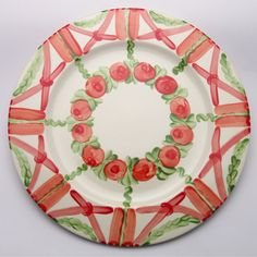 ulrique Plates, Tableware, Design, Red, Green, Dishes, Licence Plates, Dinnerware, Griddles