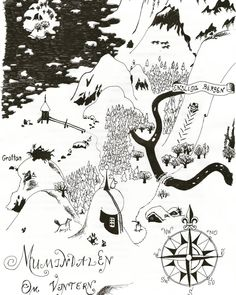 Tove Jansson: The Moomin Valley in the Winter Finland Illustrated Map, Illustrations Posters, Illustration, Moomin, Drawing Illustrations, Art, Fantasy Map, How To Draw Hands, Map Art