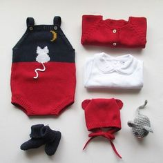 In can be made also as long sleeve romper, overalls or coveralls Made in cotton or wool in every colour Baby Hat Knitting Patterns Free, Baby Sweater Knitting Pattern, Baby Girl Patterns, Knitting Paterns, Baby Hats Knitting, Knitting For Kids, Knitting Designs, Baby Outfits, Newborn Outfits