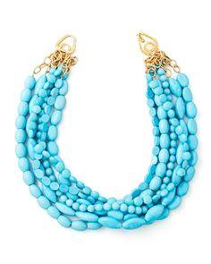 Farb-und Stilberatung mit www.farben-reich.com - Moon and Lola Multi-Strand Turquoise Magnesite Necklace - Neiman Marcus