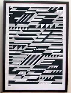 Faster Geometric Print, Mirrors and Prints