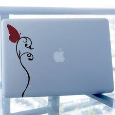 Butterfly on Vine Decal - Vinyl Sticker - For Car, Window, Laptop, Wall. $7.95, via Etsy.