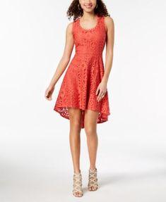 025f4e1a2 City Studios Juniors' Sleeveless Lace High-Low Dress & Reviews - Dresses -  Juniors - Macy's