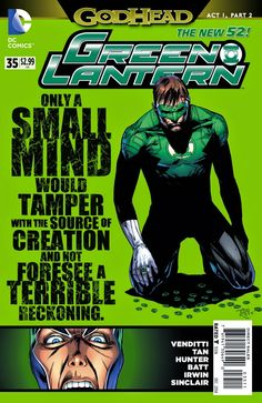 Weird Science: Green Lantern #35 Preview (Godhead)