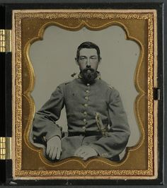 Major Robert Olin Peatross(1827-1870) of Co. E, 30th Virginia Infantry Regiment and Field and Staff with sword; hand colored ambrotype, Charles R Rees, photographer;  part of the Liljenquist Family Collection of Civil War Photographs, LOC; Call Number:  AMB/TIN no. 3091[P&P]---