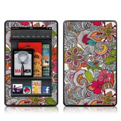 Decalgirl Kindle Fire Skin -    Doodle Color (does not fit Kindle Fire HD) by DecalGirl. $14.99. DecalGirl skins for Kindle Fire feature distinct artwork printed in vibrant color onto premium adhesive-backed cast vinyl that is then sealed with a special sating/matte protective coating to reduce glare and prevent fingerpints.  Printed in the USA.