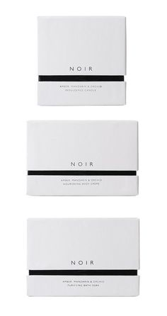 minimalistic package design and branding with special typography | typography / brand design: The White Company @ lovely package |