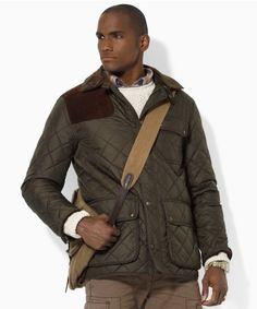 b3e599285167da Polo Ralph Lauren Men Navy RLX Quilted Shirt jacket Olive Ralph Lauren  Coats, Polo Ralph