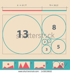 Golden Ratio,Golden Proportion vector illustration by Chuhail, via ShutterStock