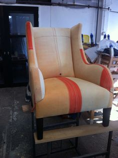 Sailcloth Armchair from the S S SAN José sunk in 1942