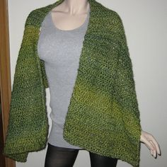 Homespun Prayer Shawl in the color Pesto by DeniseBlack on Etsy