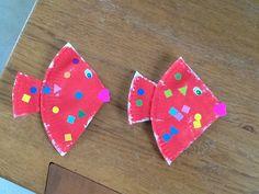 Nous avons confectionner deux petits poissons rouges avec la dernière assiette en carton du stock de nounou... Un peu de peinture, quelques gommettes et nagez petits poissons !!! Par respect pour mon travail, si vous utilisez une de mes idées sur votre...