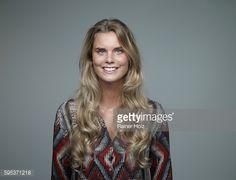 Stock Photo : Portrait of smiling young woman