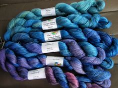 The Unique Sheep Marici silk weight silk yarn in abalone colorway