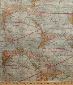 Theory of aviation world map multi swatch book windham expedition world map western hemisphere cotton fabric print by the yard publicscrutiny Gallery