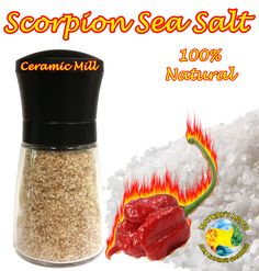 Scorpion Sea Salt Grinder 100 Grams (3.5oz)