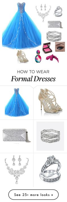 """""""Heaven's blue"""" by coolfashion07 on Polyvore featuring Jimmy Choo, BCBGMAXAZRIA, Bling Jewelry, Avenue, Missoni, Jouer and Elizabeth Arden"""