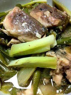山形県風に、サバ缶を使って山うどとうるいを煮てみました。手軽で美味しいです。 - 2件のもぐもぐ - 山うど&うるいのサバ缶煮 by nuutarou