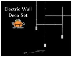 "13pumpkin31: "" Sims 4 Requested by @soulsistersims She requested for mustluvcatz set to be converted but sadly, it would not convert very well to Sims 4…so I decided to mesh a completely new set! Electric Wall Outlet Deco Set ♦ 10 new meshes made by..."