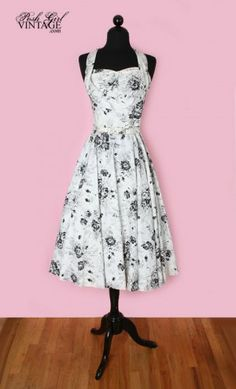I looooooove vintage 50s and 60s dresses. But I will never own one, because all of the chubby girl dresses were lost in the Great Dress Fire of 1968. :(