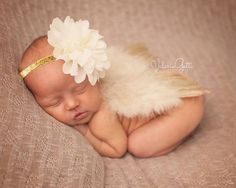 GOLD NEWBORN Feather Wings Newborn Wings with by LilPinkGoose