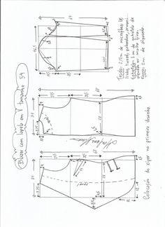 Coat Pattern Sewing, Blazer Pattern, Coat Patterns, Dress Sewing Patterns, Blouse Patterns, Clothing Patterns, Diy Fashion, Ideias Fashion, Sewing Clothes Women