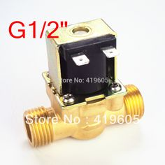 """Free Shipping 12VDC eletric Solenoid Valve 1/2"""" normally closed ,Copper body water valve ,have filter"""