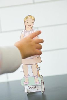 Give the gift of imagination with a paper doll personalized to look like your child.