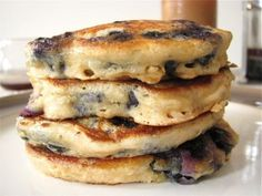 Blueberry Buttermilk Pancakes for One by Healthy Food For Living