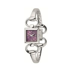 Tornabuoni Square S Lilac GG 4 diamonds/Steel at $999.99  http://www.bboescape.com/products/86/watches