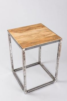 Buy a Handmade Modern Industrial Rustic End Table, made to order from Arc and Hammer   CustomMade.com