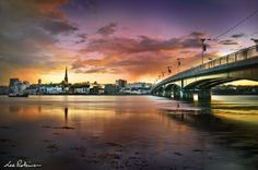 Wexford Bridge Reflections City Scapes, Ireland, Bridge, Scenery, Magic, Graphic Design, Spaces, Building, Sweet