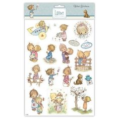 STICKERS / AUTOCOLLANTS PAILLETÉS - ENFANTS STYLE VINTAGE - LILLIBET A TALE OF FRIENDSHIP