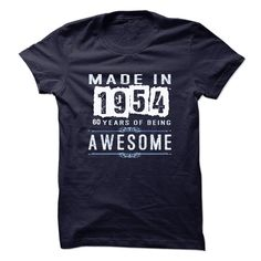 Made In 1954-60 Years of being Awesom T Shirts, Hoodies. Check price ==► https://www.sunfrog.com/Birth-Years/Made-In-1954-60-Years-of-being-Awesom.html?41382 $23.5