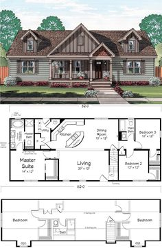(I like this as a single story floor plan.) Home owners who enjoy entertaining will love the additional space in the upper level of this Cape Code plan. Sims House Plans, Barn House Plans, Ranch House Plans, New House Plans, Dream House Plans, Small House Plans, House Floor Plans, The Plan, How To Plan