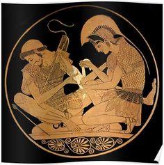 6 Miraculous Tips: Unique Vases Shape rustic vases tea lights.Simple Vases Tin Cans. Ancient Greek Art, Ancient Greece, Achilles And Patroclus, Greek Pottery, Vase Crafts, Black Vase, Pottery Vase, Vases Decor, Erotic Art
