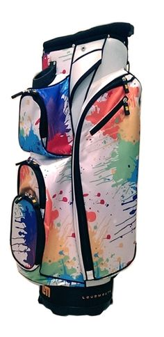 Cart Bag By Molhimawk With Loudmouth Golf Print Drop Cloth Now Readygolf