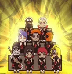 Akatsuki in Naruto SD.