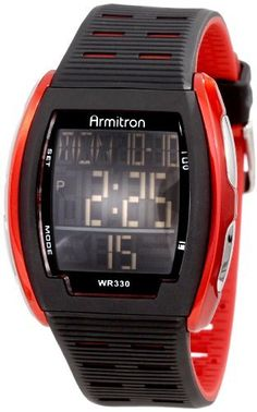 Armitron Men's 40/8239RED Red Accented Rectangular Shaped Digital Watch Armitron. Save 25 Off!. $22.49