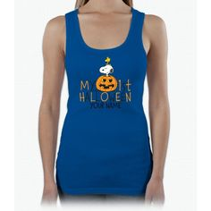 Snoopy - My First Halloween Infant Ladies Triblend Racerback Tank