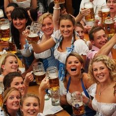 What is Oktoberfest and how to stay safe there? - Oktoberfest [ɔkˈtoːbɐˌfɛst]) is the world's largest beer festival and travelling funfair that is held annually in Munich, Bavaria, Germany… Cerveza Paulaner, Munich Oktoberfest, German Oktoberfest, Caption For Yourself, Full Moon Party, Beer Girl, Festivals Around The World, German Beer, German Folk