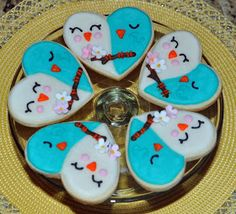 The Bake More: Snuggling Lovebirds - Engagement Party Cookies