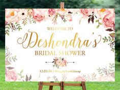Bridal Shower Welcome Sign, Bridal Shower sign, Bridal Shower decoration, welcome wedding sign, Bridal shower banner, Bridal shower poster