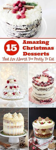 Want to impress your guests with an amazing holiday dessert? These delicious Christmas desserts are almost too pretty to eat!