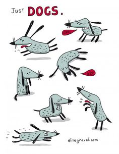 Elise Gravel • dog character • Illustration • cute