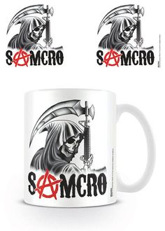 Taza Samcro Reaper. Sons of Anarchy Estupenda taza con la imagen de la calavera Samcro Reaper, el famoso logo de la popular serie de TV Sons of Anarchy 100% oficial y licenciada.